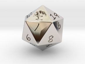D20 Forest in Rhodium Plated Brass: Medium