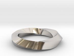RingSwirl270 in Rhodium Plated Brass