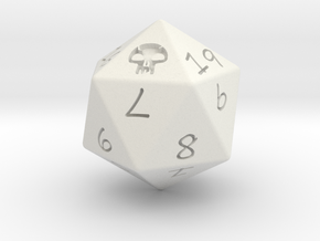 D20 Swamp in White Natural Versatile Plastic: Medium