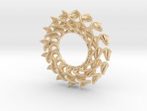 DNA Flower 16-Petal Pendant in 14k Gold Plated Brass