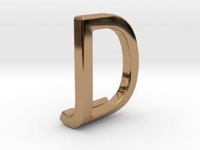 Two way letter pendant - DJ JD in Polished Brass