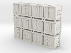 Crates (12 pcs) in White Strong & Flexible
