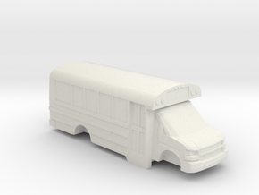 ho scale thomas minotour chevy express school bus in White Natural Versatile Plastic