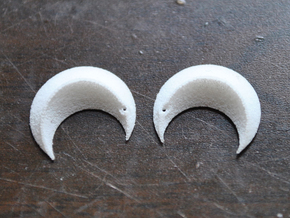 Princess' Earrings - part 2 in White Strong & Flexible Polished
