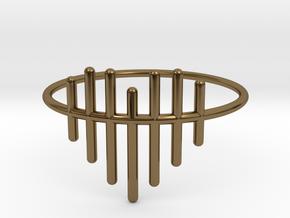 Size 8 Heartstrings in Polished Bronze