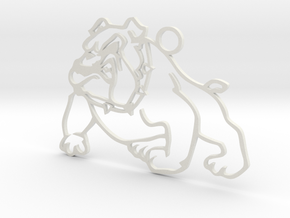 BULLDOG in White Natural Versatile Plastic
