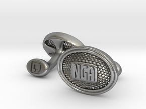 NGA Cufflinks in Natural Silver