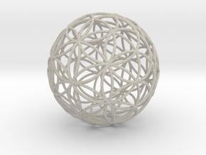 3D 50mm Orb of Life (3D Flower of Life)  in Natural Sandstone