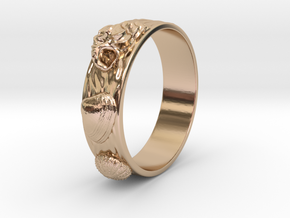 Sea Shell Ring 1 - US-Size 12 1/2 (21.89 mm) in 14k Rose Gold Plated Brass