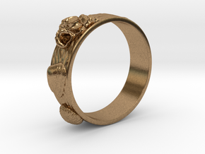 Sea Shell Ring 1 - US-Size 10 (19.84 mm) in Natural Brass