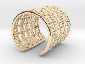 Flowers around your wrist in 14K Yellow Gold