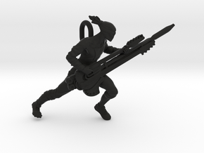 Coma Doof Warrior pendant in Black Natural Versatile Plastic
