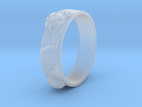 Sea Shell Ring 1 - US-Size 12 (21.49 mm) in Smooth Fine Detail Plastic