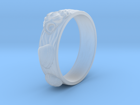 Sea Shell Ring 1 - US-Size 8 1/2 (18.53 mm) in Smoothest Fine Detail Plastic