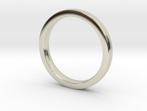 Wedding Band or everyday ring; 2.5mm size 7 in 14k White Gold