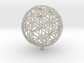 Pendant 55mm Flower Of Life in Natural Sandstone