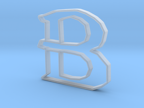 Typography Pendant B in Smooth Fine Detail Plastic
