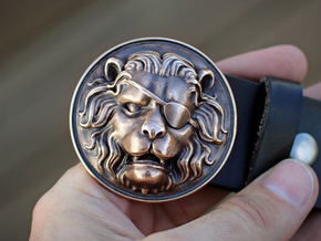 """The Colonel"" Belt Buckle in Natural Bronze"