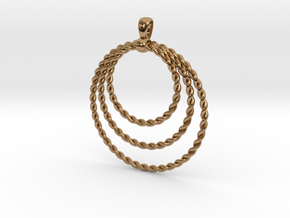 Three Rope Pendant/ Necklace in Polished Brass