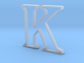 Typography Pendant K in Smooth Fine Detail Plastic
