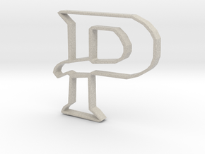 Typography Pendant P in Natural Sandstone