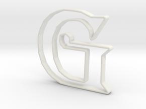 Typography Pendant G in White Natural Versatile Plastic