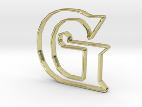 Typography Pendant G in 18k Gold