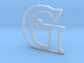 Typography Pendant G in Smooth Fine Detail Plastic