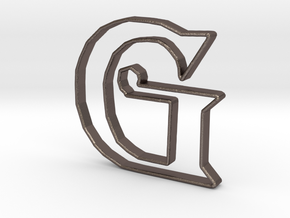 Typography Pendant G in Stainless Steel
