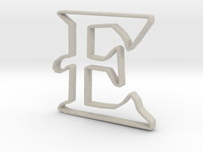 Typography Pendant E in Natural Sandstone
