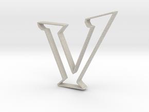 Typography Pendant V in Natural Sandstone