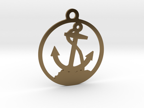 Anchor Pendent in Polished Bronze