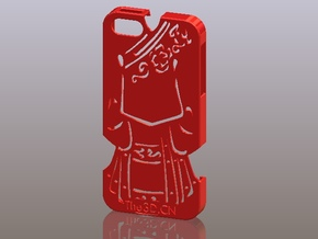 iPhone5_The Chinese Style -- Ancient costume 10 in Red Strong & Flexible Polished