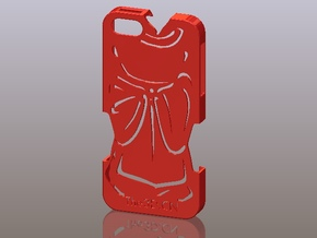 iPhone5_The Chinese Style -- Ancient costume 04 in Red Processed Versatile Plastic