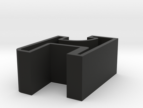 Dual Turntable Dustcover Hinge in Black Natural Versatile Plastic