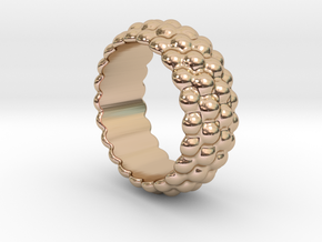 Big Bubble Ring 23 - Italian Size 23 in 14k Rose Gold Plated Brass