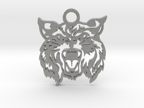 Bobcat amulet in Metallic Plastic