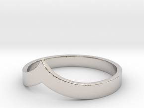 Pointed Stacking Ring in Rhodium Plated Brass