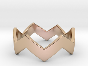 Chevron Ring in 14k Rose Gold Plated Brass