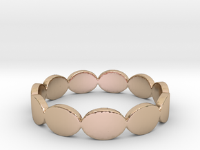 Circles Ring  in 14k Rose Gold Plated Brass