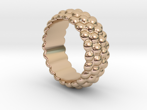 Big Bubble Ring 27 - Italian Size 27 in 14k Rose Gold Plated Brass
