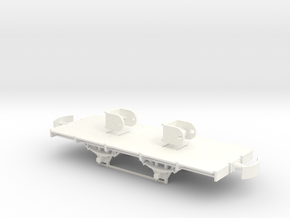 904 ZE onderstel ongeremd + ashouders 1:45  in White Processed Versatile Plastic