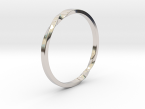 Infinity Ring in Rhodium Plated Brass: 5 / 49