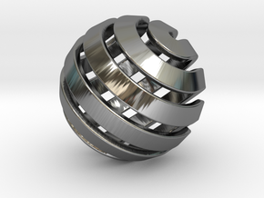 Ball-14-3 in Fine Detail Polished Silver