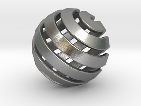 Ball-14-3 in Natural Silver