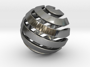 Ball-14-2 in Fine Detail Polished Silver