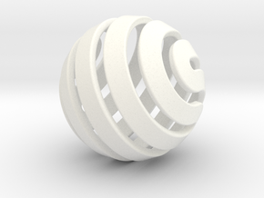 Ball-14-5 in White Processed Versatile Plastic