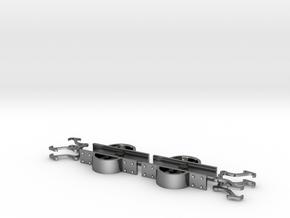 Fallhakenkupplung Feldbahn 0e-GN15 in Fine Detail Polished Silver