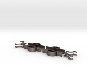 Fallhakenkupplung Feldbahn 0e-GN15 in Polished Bronzed Silver Steel