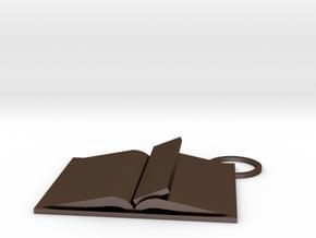 Book Keychain Custom in Polished Bronze Steel